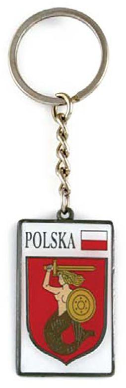Brelok metalowy, herb, Warszawa