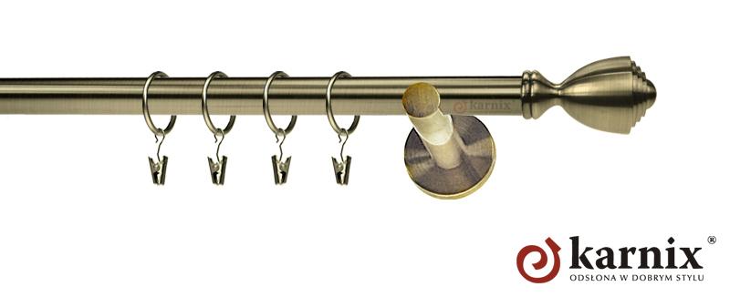 Karnisze nowoczesne NEO pojedynczy 19mm Avanti antyk mosiądz