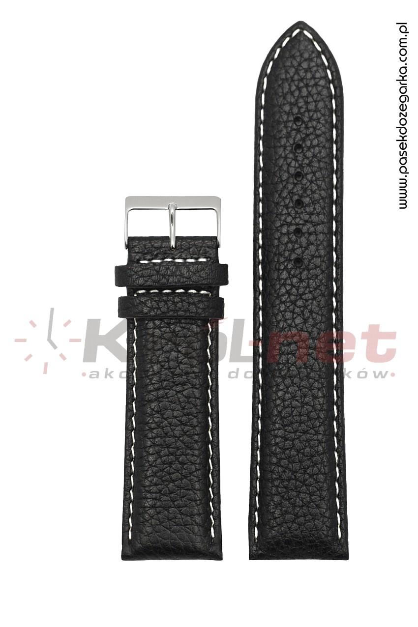 Pasek RE060/B/26XL - czarny, jasne nici, long