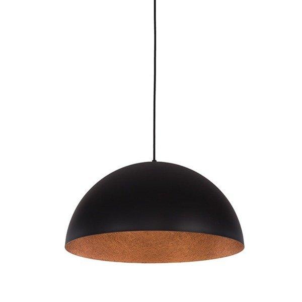 Lampa wisząca SFERA czarno - miedziana 35cm