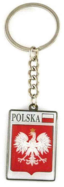 Brelok metalowy, godło, Polska