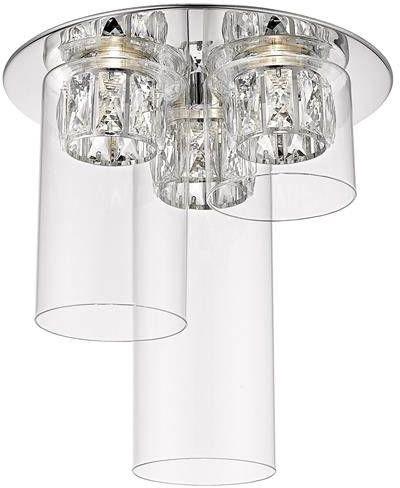 Nowoczesna lampa sufitowa GEM szklane tuby plafon 3x LED 5W 3000K chrom