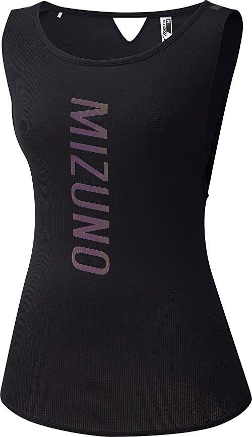 Mizuno Męska koszulka bez rękawów Dryaeroflow, czarna, XS