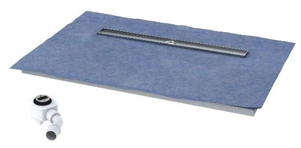 Schedpol brodzik posadzkowy podpłytkowy ruszt Steel 120x80x5cm 10.008/OLDB/SL