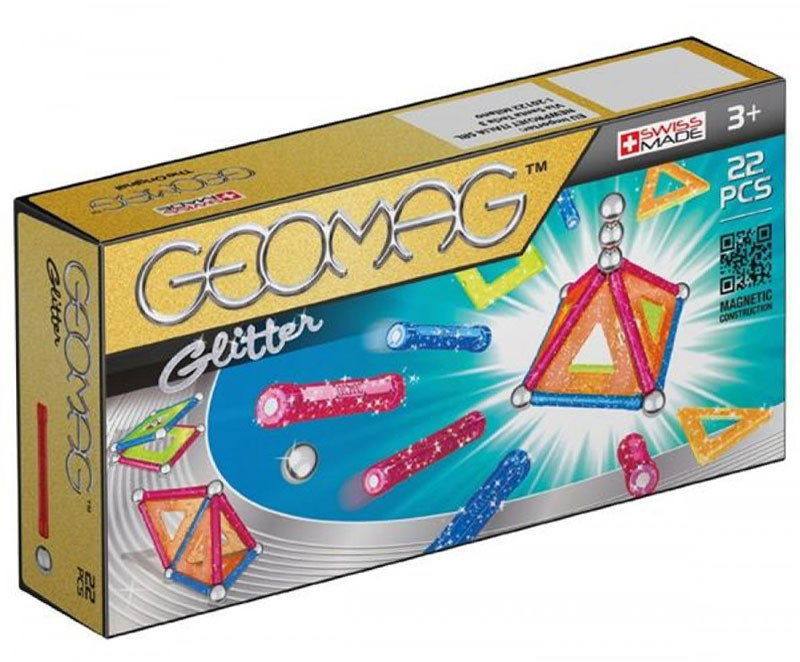 GeoMag - Klocki magnetyczne - Kids glitter 22 el. 530