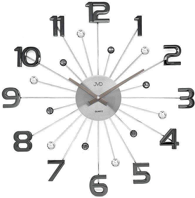 Zegar ścienny JVD HT109.3 z kryształkami, średnica 49 cm