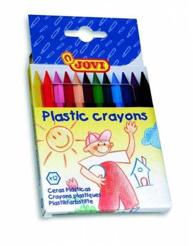 Kredki plastikowe JOVI hexagonalne 12 kolorów 912