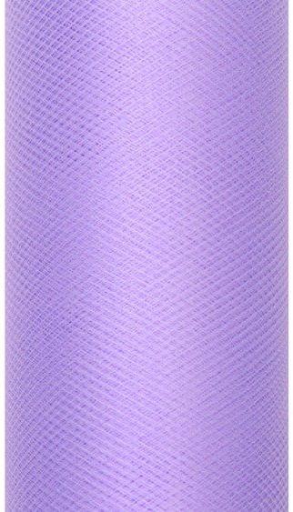 Tiul dekoracyjny fioletowy 15cm x 9m 1 rolka TIU15-014