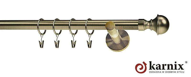 Karnisze nowoczesne NEO pojedynczy 19mm Bella antyk mosiądz