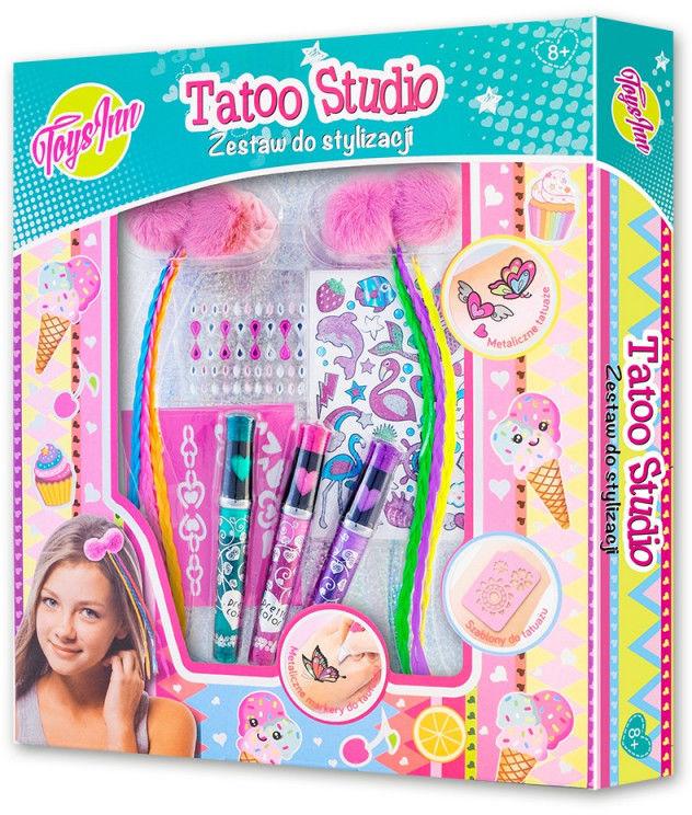 Zestaw do włosów Tatoo studio z warkoczykami