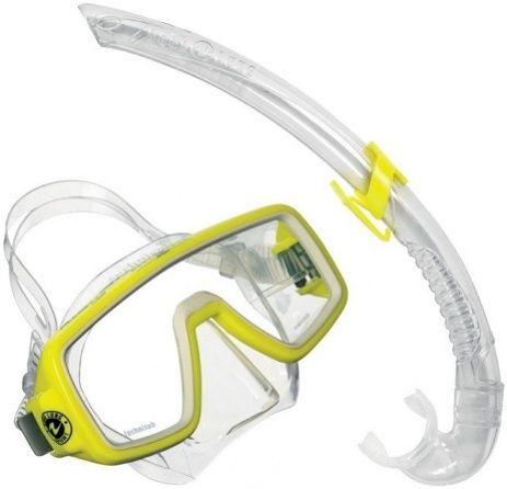 Aqualung sport planet lx + airflex junior set żółty
