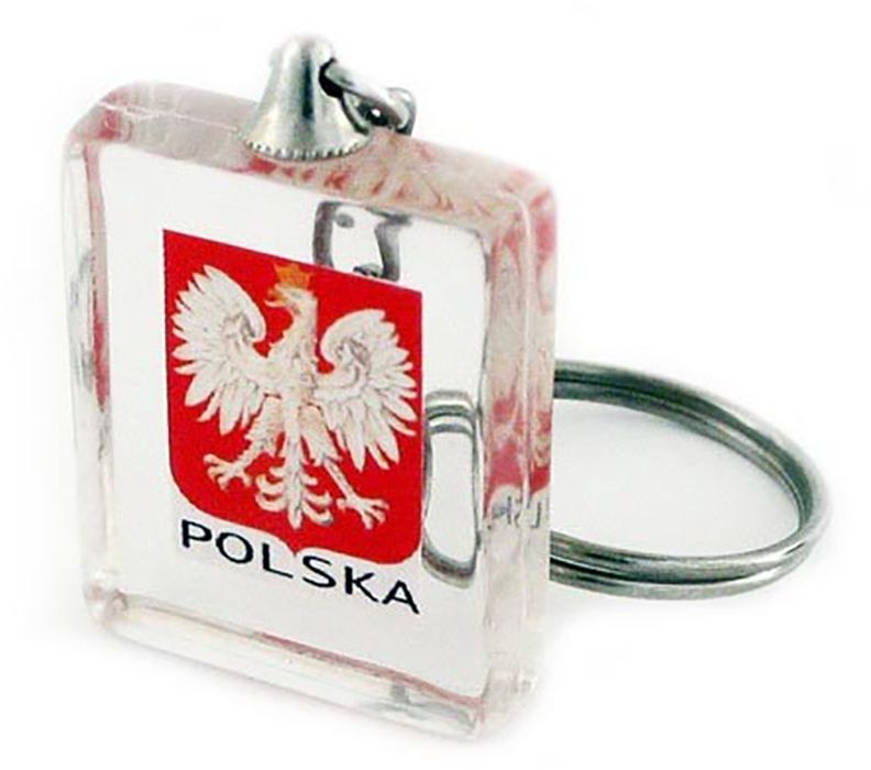 Brelok akrylowy kostka, Polska