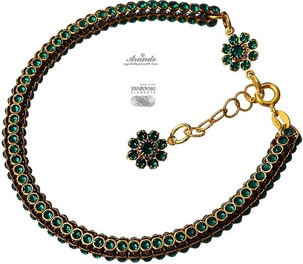 SWAROVSKI Bransoletka EMERALD FEEL CRYSTALLIZED