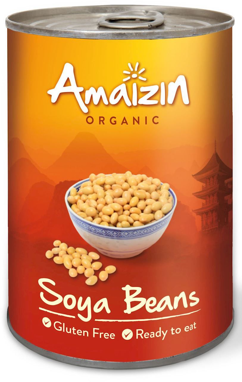 Soja konserwowa puszka bio 400 g - amaizin