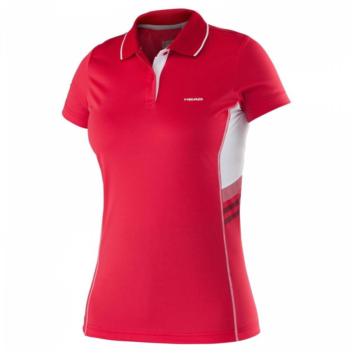 Head Club W Polo Shirt Technical - red 814675-RD
