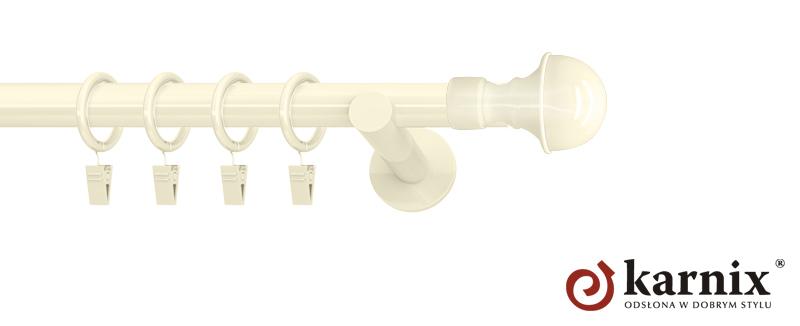 Karnisze nowoczesne NEO pojedynczy 19mm Bella ivory (kość słoniowa)