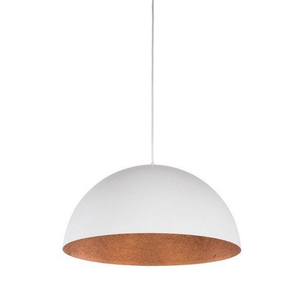 Lampa wisząca SFERA biało - miedziana 35cm