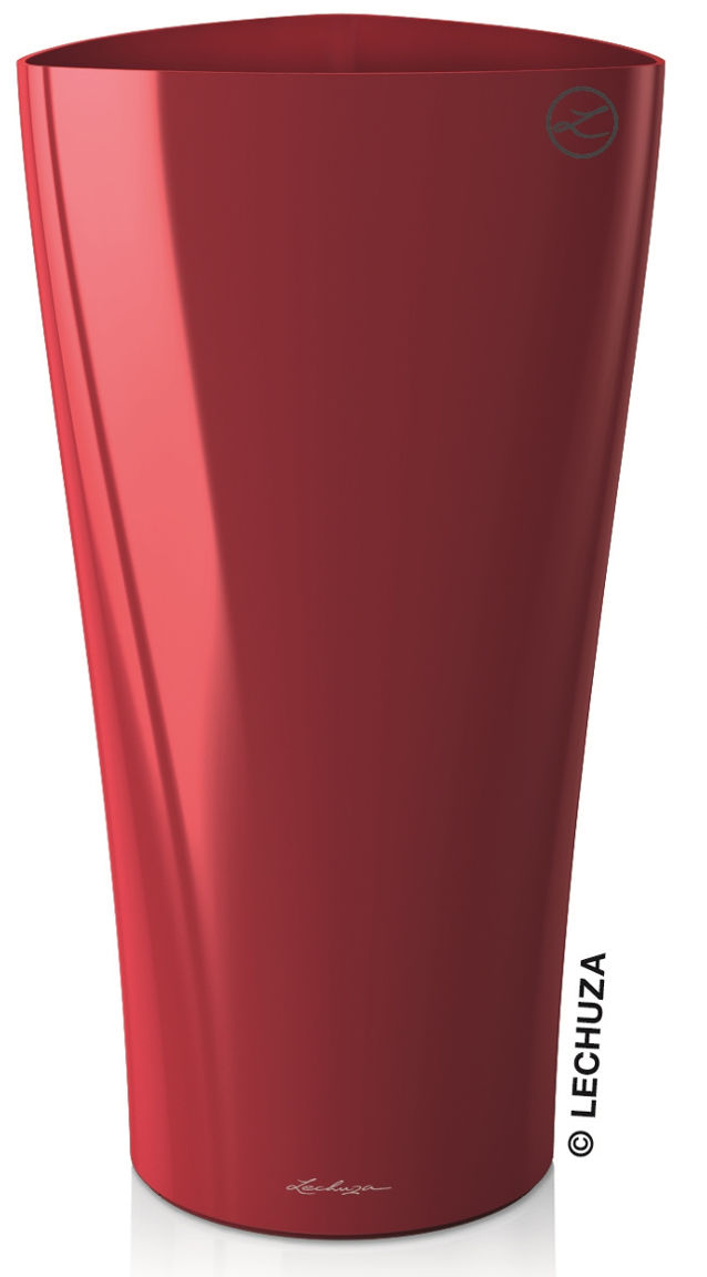 Donica Lechuza DELTA 30/56 czerwony scarlet połysk
