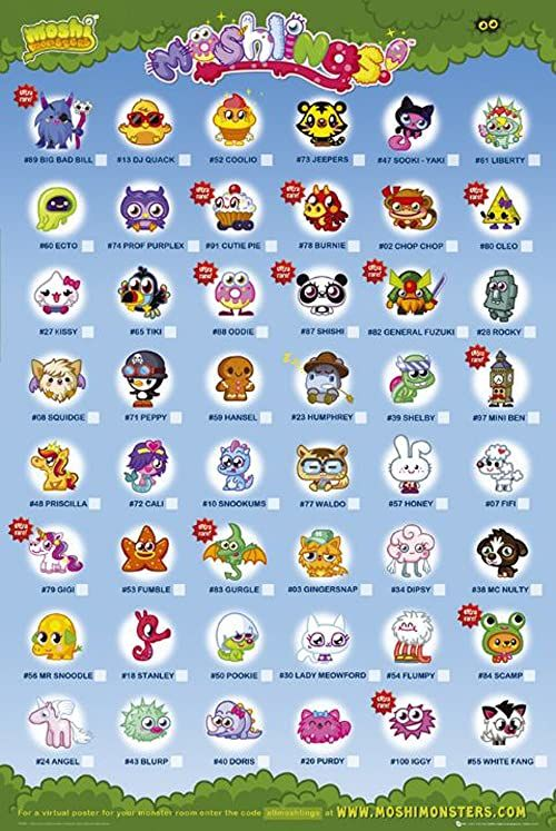 Empire 349668 Moshi Monsters Moshlings  plakat do gier wideo  61 x 91,5 cm