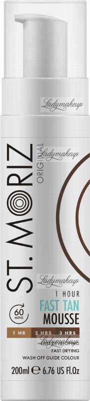 ST. MORIZ - 1 Hour Fast Tan Mousse - Samoopalacz do ciała w musie - 200 ml