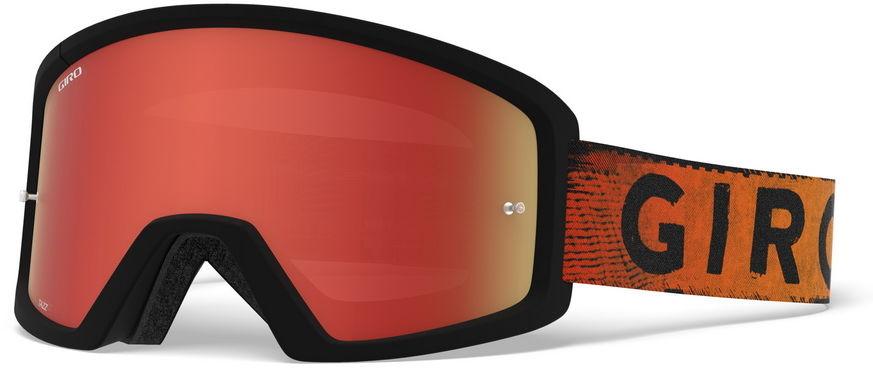 GIRO gogle rowerowe tazz mtb black red hypnotic (szyba kolorowa AMBER SCARLET trail + Szyba Przeźroczysta 99% S0) GR-7114186,768686268793