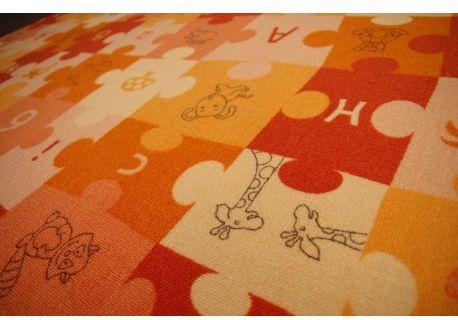 Dywan dziecięcy PUZZLE oranż 80x100 cm