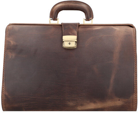 Greenburry Vintage Torba lekarska skórzana 41 cm teak-brown