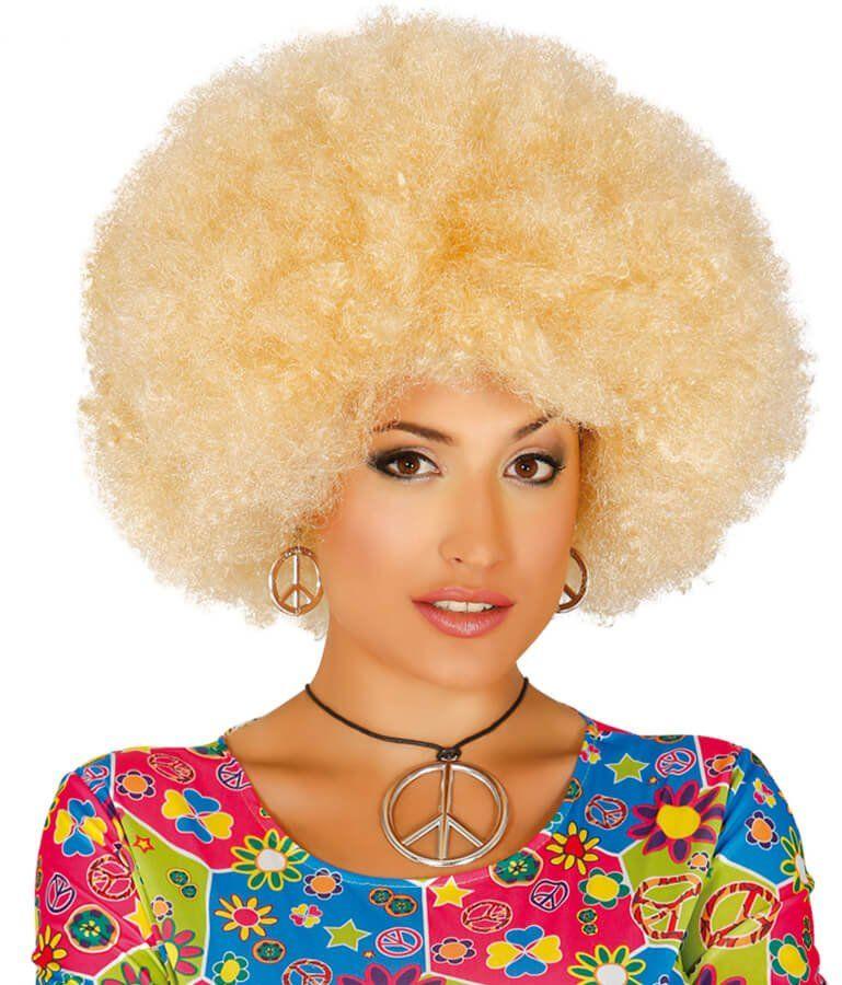 Peruka mega afro blond - 1 szt.