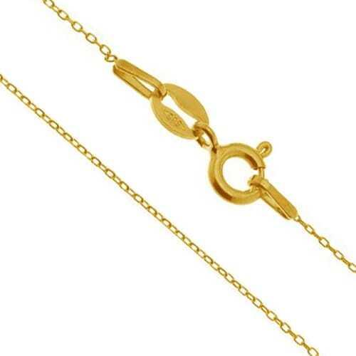 ERIN złoty łańcuszek ankier delikatny cieniutki 585