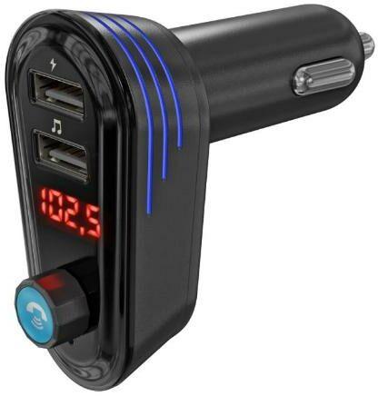Arkas AP02 Transmiter FM Bluetooth z ładowarką USB - szybka wysyłka!