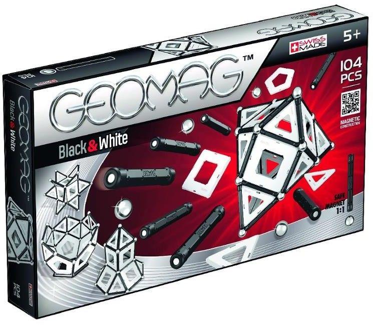 GeoMag - Klocki magnetyczne - Black & White 104 el. 013