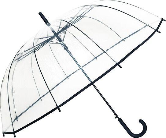 Parasol smati przezroczysty czarny 12 żeber
