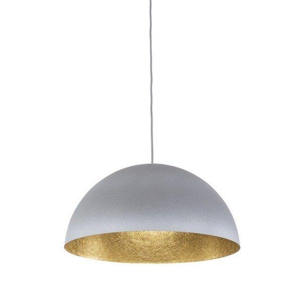 Lampa wisząca SFERA szaro - złota 35cm