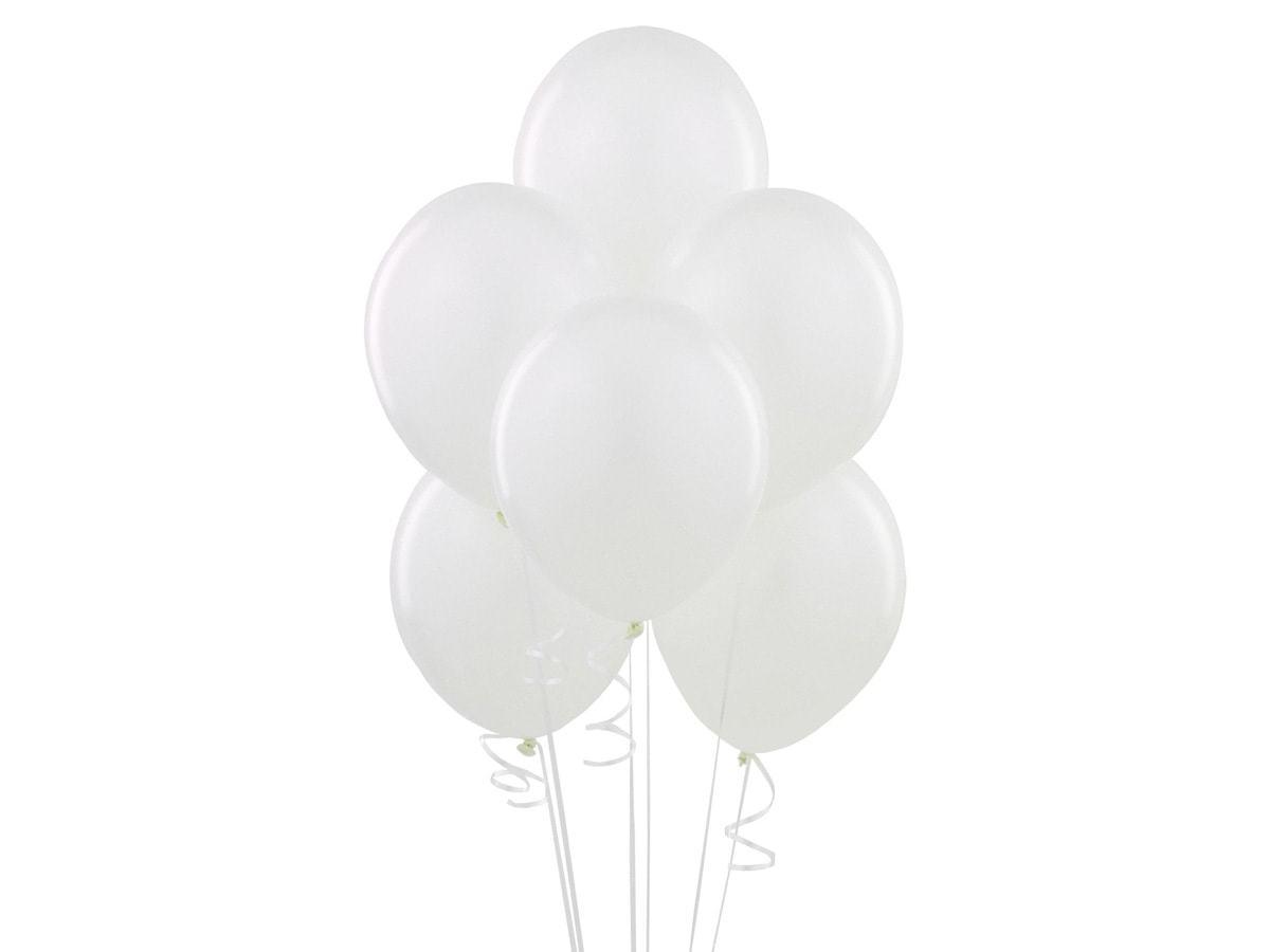 Balony lateksowe pastelowe białe - duże - 100 szt.