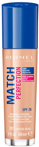 Podkład Rimmel London Match Perfection Foundation Spf20 201 Classic Beige 30ml