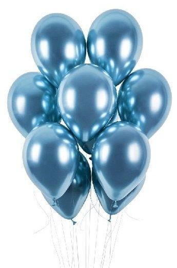 Balony shiny 13 cali niebieskie 5 sztuk 7887