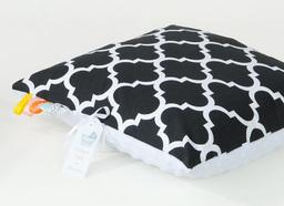 MAMO-TATO Poduszka Minky dwustronna 30x40 Maroko czarne / biały