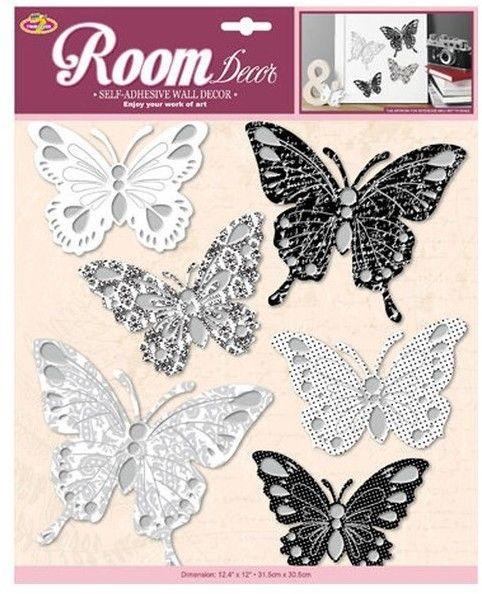 Dekoracje ścienne 3D - Motyle 1