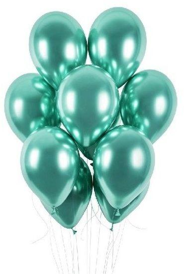 Balony shiny 13 cali zielone 5 sztuk 8641 - ZIELONE