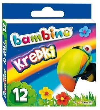 Kredki świecowe 12 kolorów BAMBINO - ST-MAJEWSKI