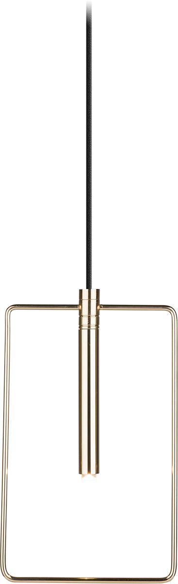 Lampa wisząca Faro 0545 Amplex prostokątna oprawa w kolorze złotym