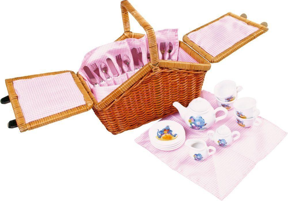 Koszyk na piknik, Myszka i jej ser, small foot design - zabawki dla dziewczynek