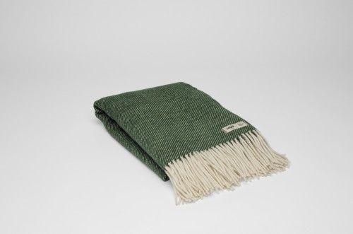 Koc wełniany RURU zielony