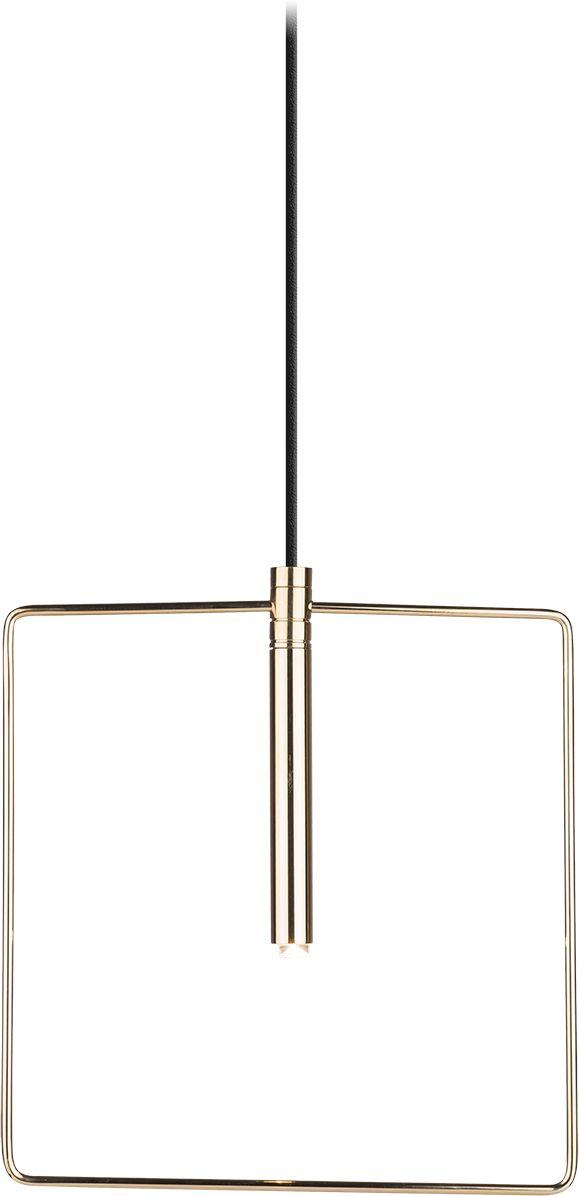 Lampa wisząca Faro 0544 Amplex kwadratowa oprawa w kolorze złotym