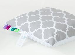 MAMO-TATO Poduszka Minky dwustronna 30x40 Maroko szare / biały