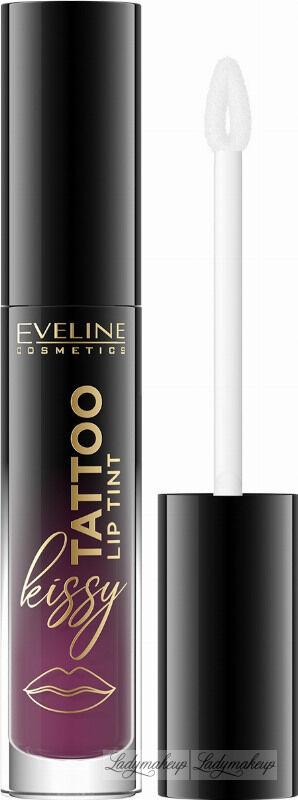 Eveline Cosmetics - Kissy Tattoo Lip Tint - Długotrwała pomadka do ust w płynie - 4,5 ml - 06 WILD ROSE
