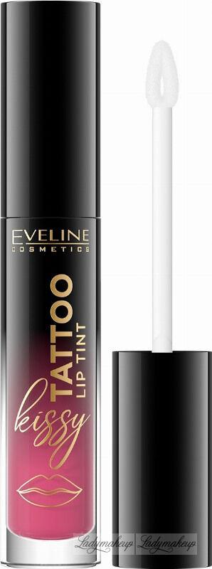 Eveline Cosmetics - Kissy Tattoo Lip Tint - Długotrwała pomadka do ust w płynie - 4,5 ml - 04 DELICATE ROSIE