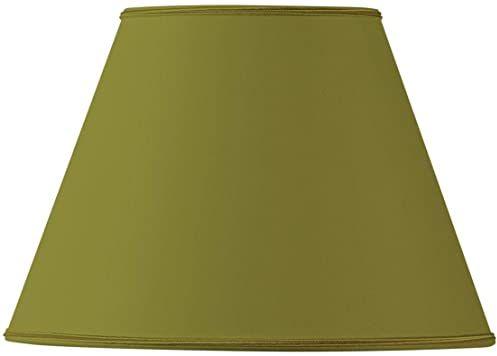 Klosz lampy z materiału, stożkowy, średnica 35 x 18 x 24 cm, zielony brąz