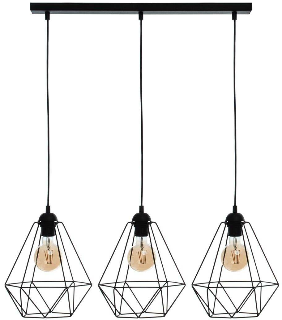 Lampa wisząca BASKET BLACK 3xE27