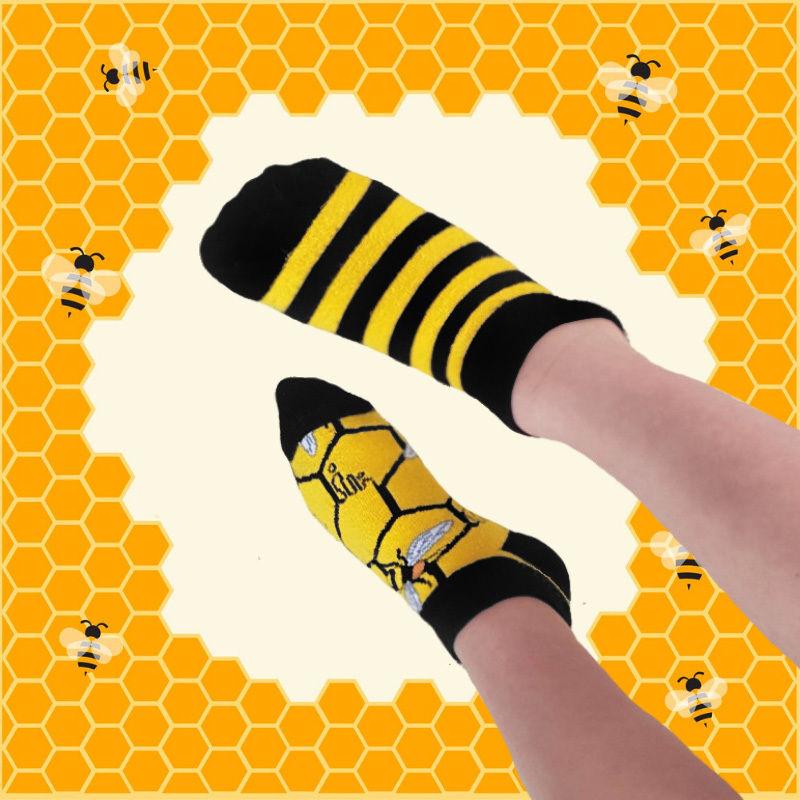 Stopki, Bee Bee Kids Low, Todo Socks, Pszczoły, Kolorowe Dziecięce